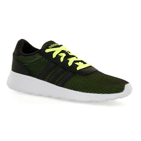 adidas lite racer black adidas neo mens lite racer 316 trainers black yellow