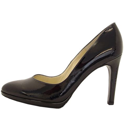 black patent shoes kaiser herdi soft black patent court shoes