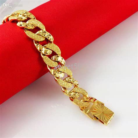 2017 Genuine Fashion 24k Gold Bracelet Men Jewelry Yellow