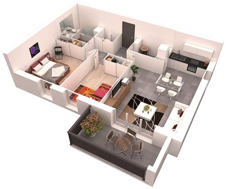 2 bedroom layout design 25 more 2 bedroom 3d floor plans