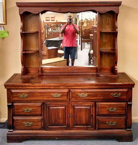 dresser with hutch top mirror pine dresser hutch mirror delmarva furniture consignment