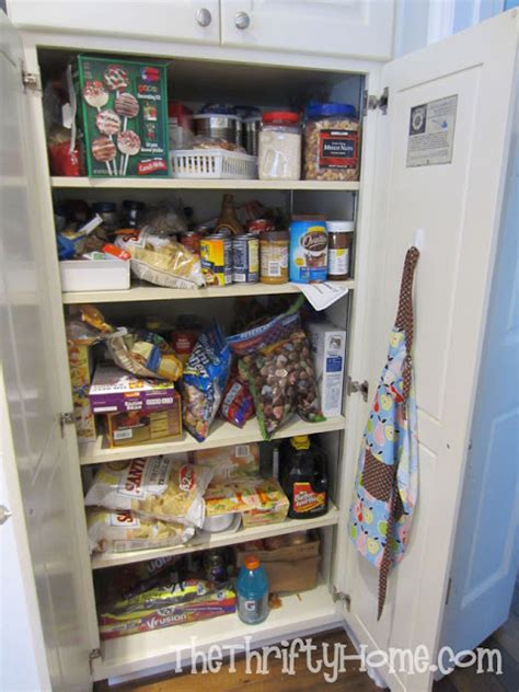 how to organize a pantry with deep shelves the thrifty home simple solutions to organize a deep pantry