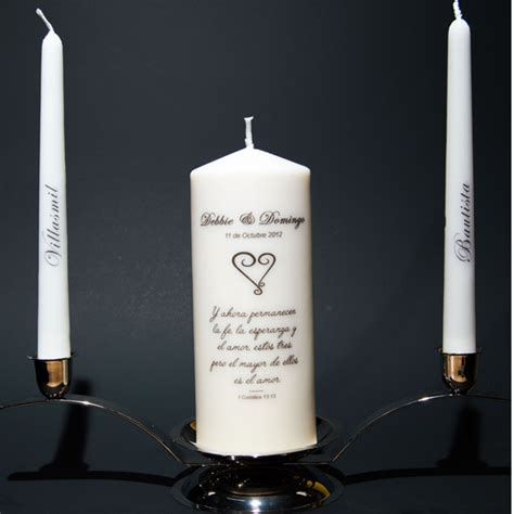 Wedding Quotes For Unity Candle by Personalized Unity Candle Bible Verse In