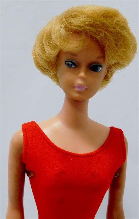 vintage  barbie doll platinum bubble cut stock
