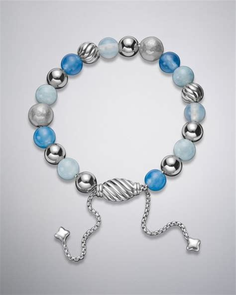 david yurman spiritual bead bracelet david yurman spiritual bead bracelet blue chalcedony in
