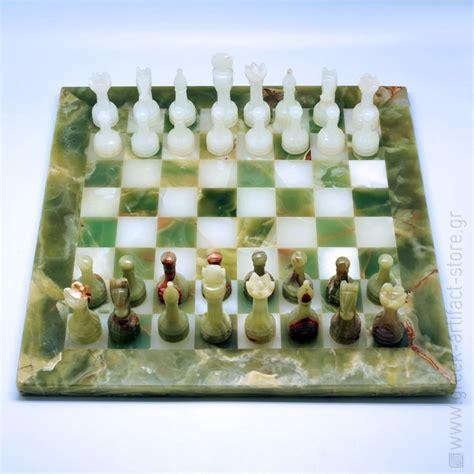 Handmade Chess Set - handmade onyx chess set 40x40cm 15 74 x15 74