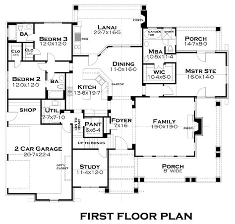 house plans pleasant cove 4838 3 bedrooms and 3 5 baths the house