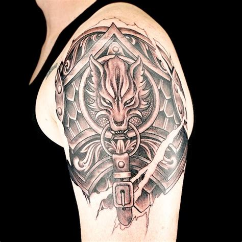 Elimination Tattoo Shoulder Armor Ink Master Armor Of God Ink Masters