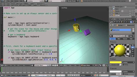 tutorial video game programming blender 2 6 tutorial python game engine programming