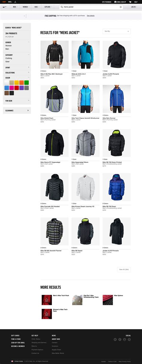 Nike List list of nike product