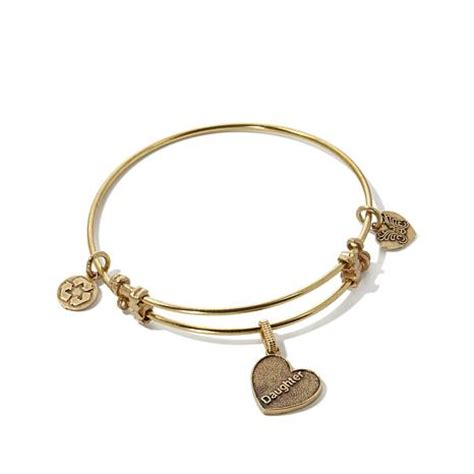 """Angelica """"Daughter"""" Charm Wire Bangle Bracelet   HSN"""