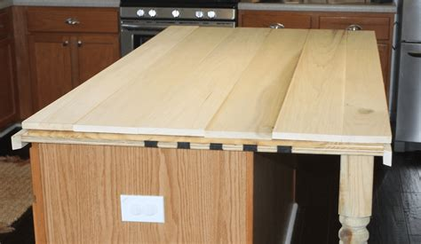 making a wooden l remodelaholic how to create faux reclaimed wood countertops