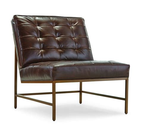 mitchell gold michael leather recliner major chair satin brass finish leather available