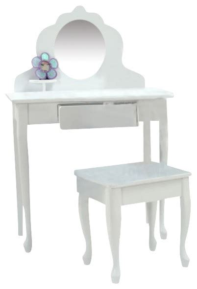 Kidkraft Vanity Table Kidkraft Medium Wood Makeup Vanity Table Stool For With Mirror Traditional