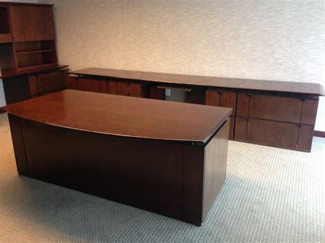 used executive desk used geiger executive desk credenza office furniture