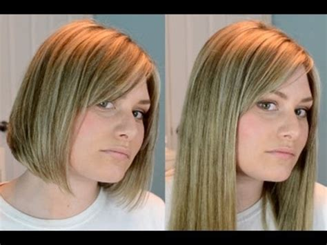 short vs long how to cut hair extensions dkw styling clip extensions in short blunt hair youtube