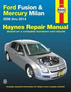 ford fusion mercury milan repair manual 2006 2014