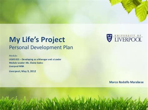 How Does Mba Help In Personal Development by My Personal Development Plan