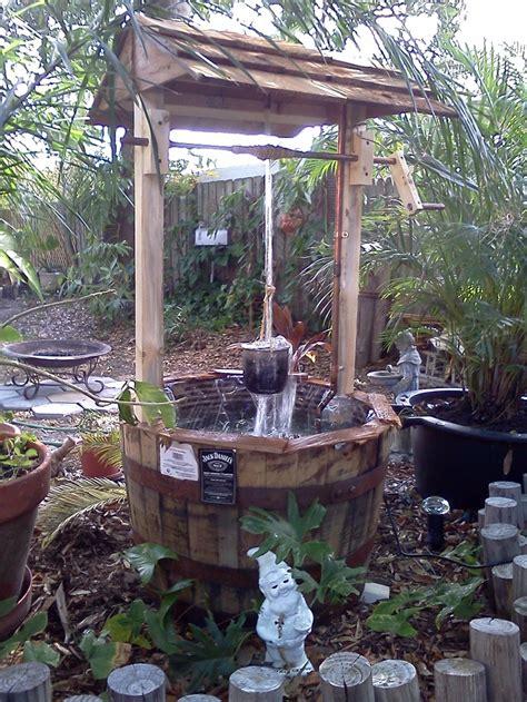 Wishing Well Garden Decor Daniel S Distillery Barrel Wishing Well Plants N Stuff Pinterest
