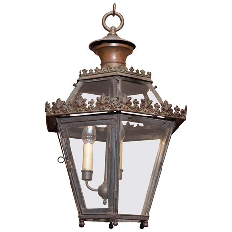 Gothic Chandelier Wrought Iron Antique French Iron Lantern For Sale At 1stdibs