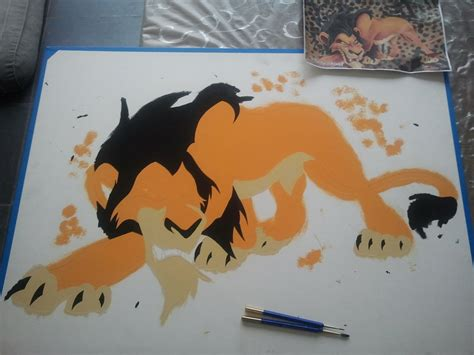 scar airbrush painting third color by spikethejackal on deviantart