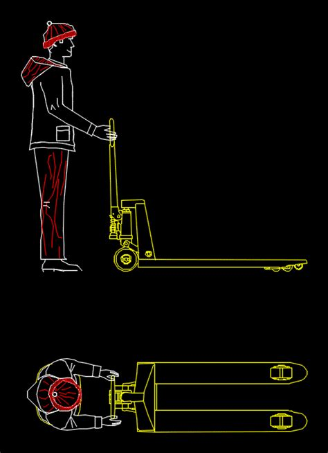 pallet jack dwg block  autocad designs cad