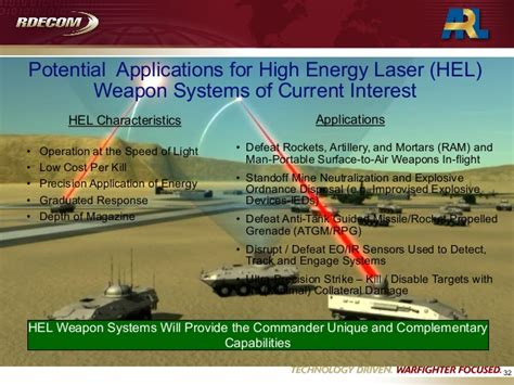 high energy laser weapon systems applications us army research lab 2010