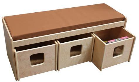 bench with storage bins billy kidz sofa bench with three storage bins