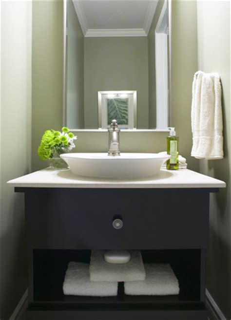 Small Bathroom Vanity With Vessel Sink - modern powder room modern powder room toronto by jacqueline glass and associates