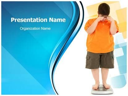 child obesity powerpoint template background