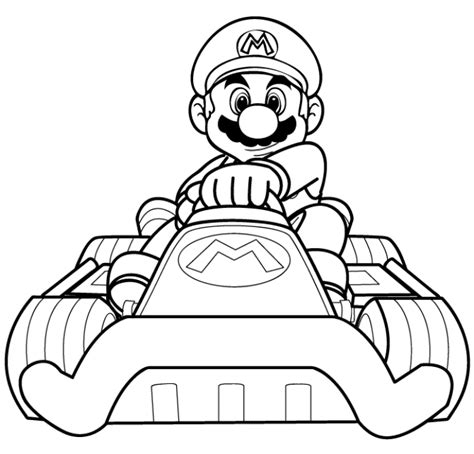 Mario Kart 7 Coloring Pages Mario Kart 7 Free Coloring Pages