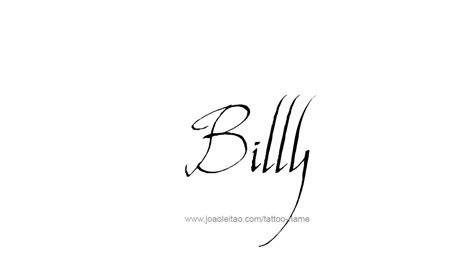billy the kid tattoo designs billy name designs