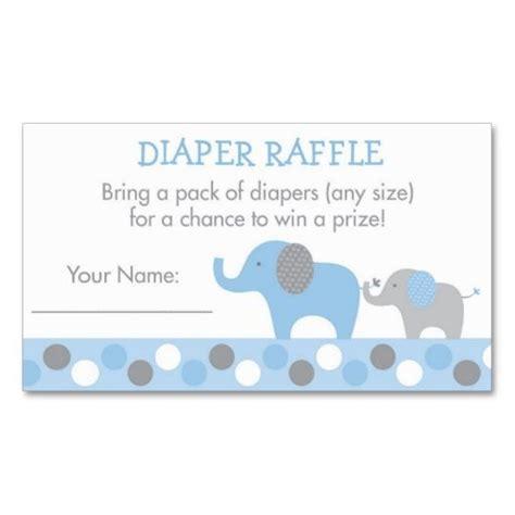 blue elephant diaper raffle tickets