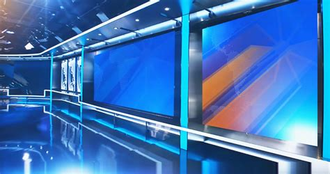 green screen backgrounds free virtual newsroom set