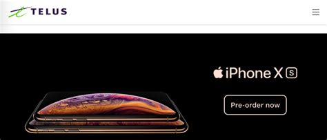 telus iphone xs iphone xs max pricing starts