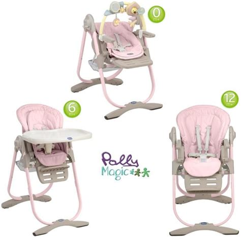 chaise polly magic 3 en 1 chicco chaise haute 3 en 1 polly magic pink pink achat