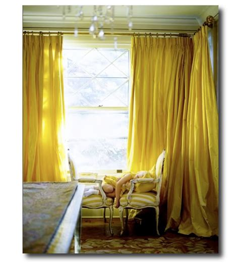 Yellow Silk Drapes Paul Costello