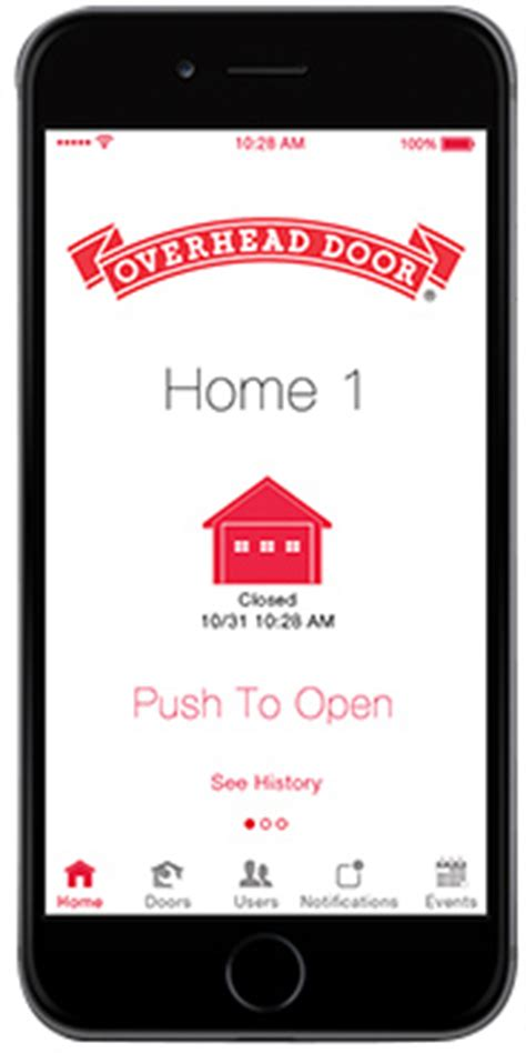 Garage Door Opener App Without Hardware by Garage Door Opener App Overhead Door Ohd Anywhere