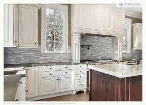 Gray Backsplash Kitchen grey tile kitchen backsplash black granite counter top and white