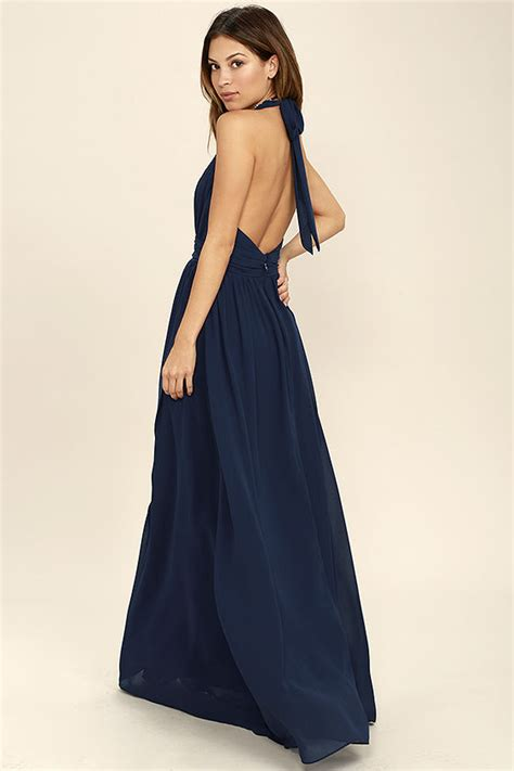 hair for maxi halyer dress lovely navy blue dress maxi dress halter dress 84 00