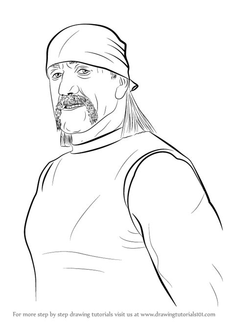 wwe coloring pages hulk hogan learn how to draw hulk hogan wrestlers step by step