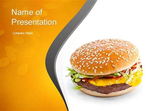 Tasty Burger Powerpoint Template Authorstream Fast Food Ppt Slides