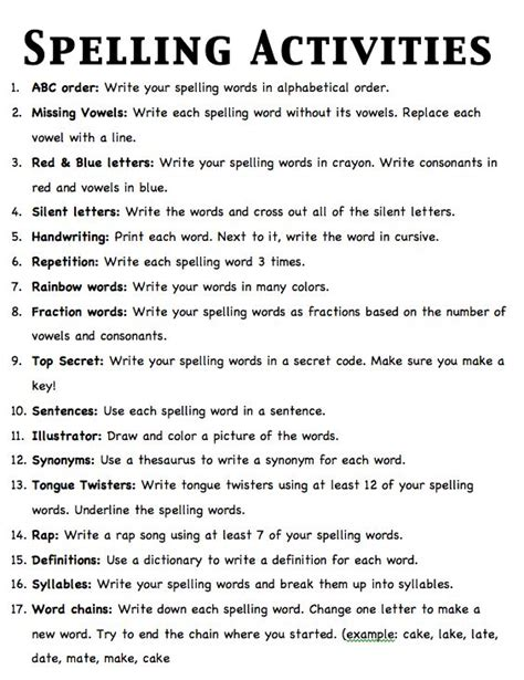 active resume words help with spelling homework