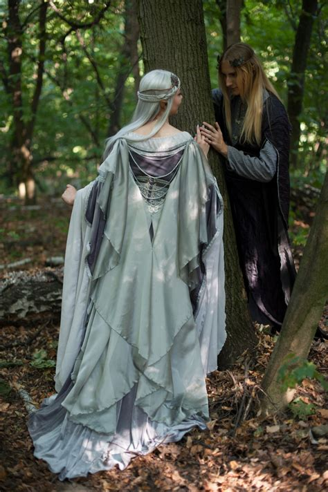 Dress Elven by Silver Gray Elven Dress Made To Order A Well Gowns And