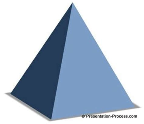 How Do You Make A 3d Pyramid Out Of Paper - 3d powerpoint pyramid in 4 easy steps