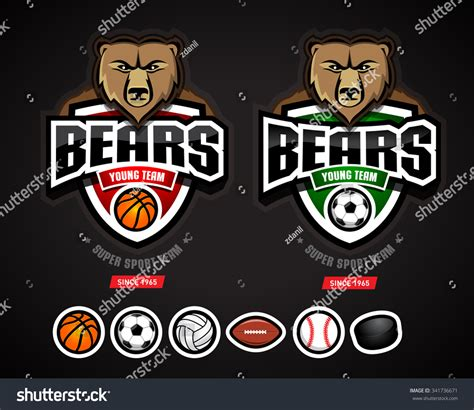 bears sport logo team templatelogotype basketball vectores