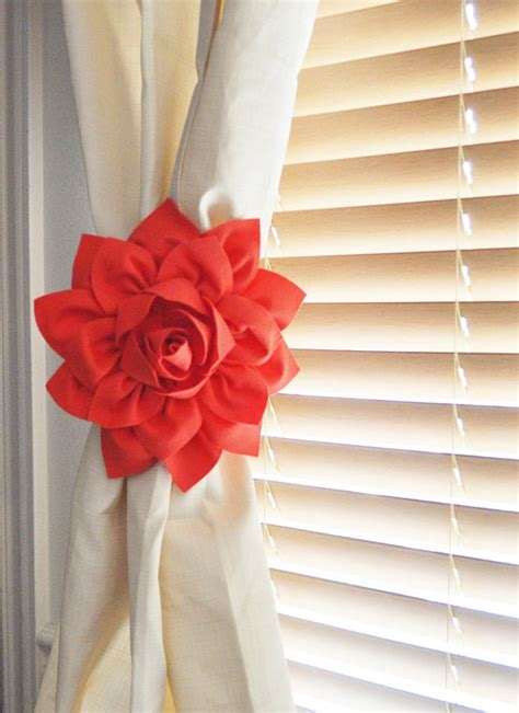 Curtain Tie Backs For Nursery Curtain Tie Backs Holdback Set Of Two Coral Home Decor By Bedbuggs