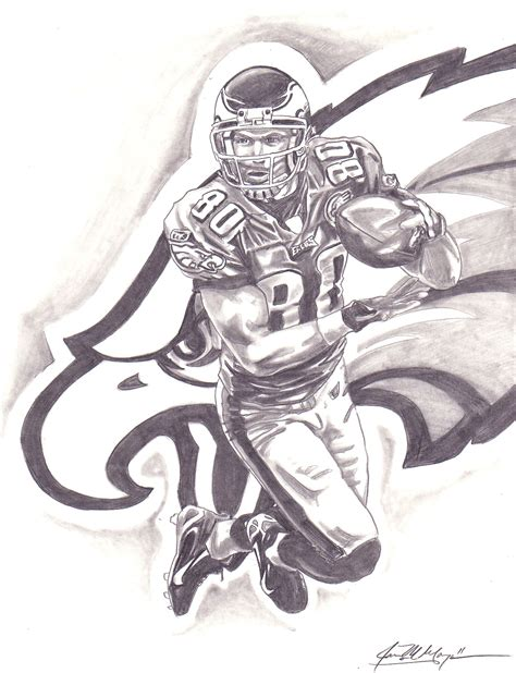 nfl veteran kevin curtis drawing jmg creations