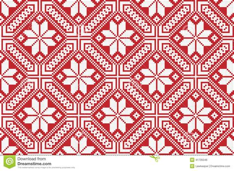 traditional national embroidered pattern stock vector