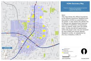 Atlanta Zoning Map by Adna Boundaries Atlanta Downtown Neighborhood Association